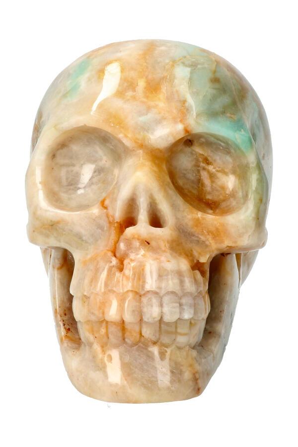Amazoniet realistische kristallen schedel, 12.5 cm, 1.37 kg
