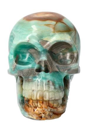 Amazoniet realistische kristallen schedel