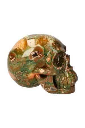 Rhyoliet realistische kristallen schedel