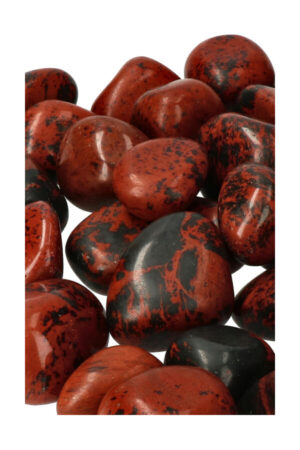 Mahonie Obsidiaan trommelstenen