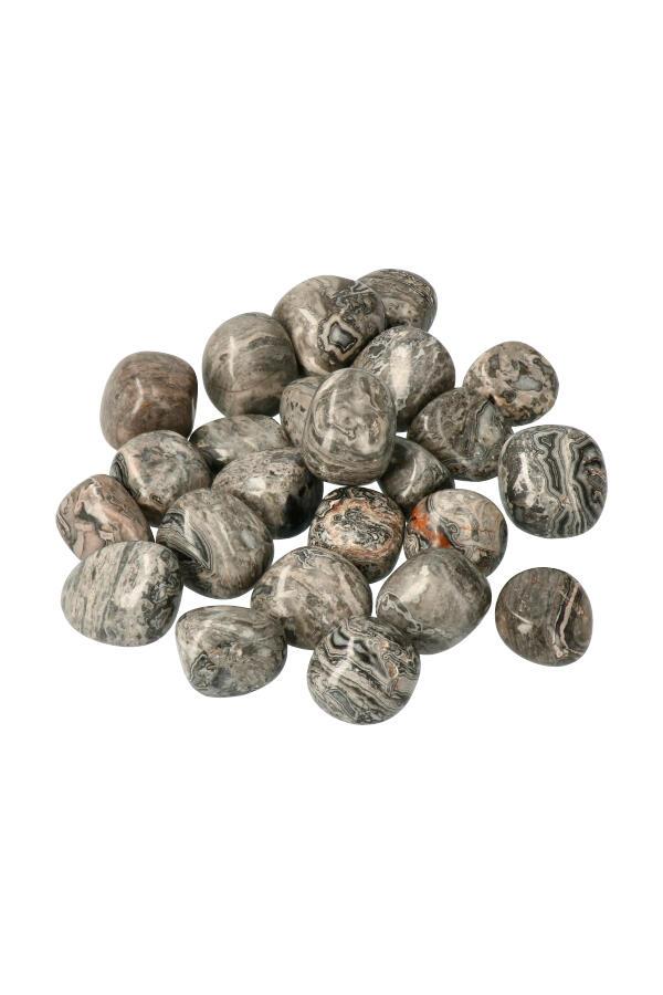 Picasso Jaspis trommelstenen, per steen of zak van 100 gram tot 1 kg, 2-3 cm