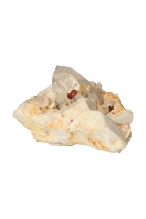 Bergkristal Granaat + Albiet