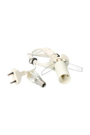 E14 fitting + kabel + lampje (bijvoorbeeld voor zoutlamp) 120 cm
