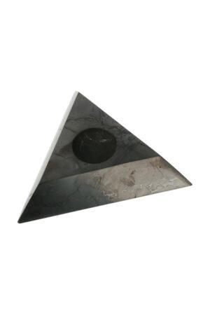 Shungiet bollen standaard driehoek gepolijst
