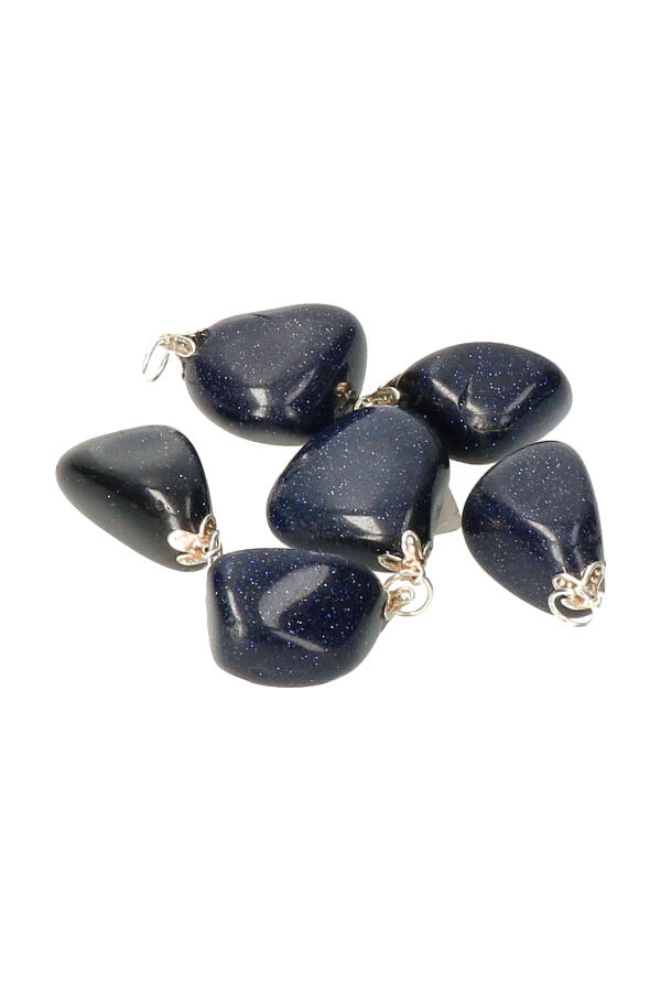 Blauwsteen steenhanger, 2-3 cm