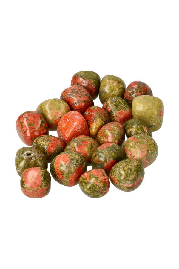 Unakiet trommelsteen, circa 2 cm, 7-15 gram, Unaka Mountains, VS