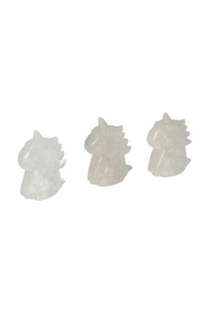 Bergkristal cartoon eenhoorn, 5 cm
