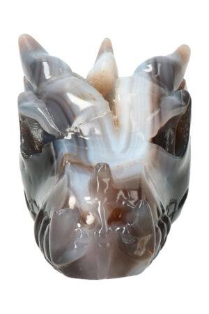 Agaat geode kristallen drakenschedel