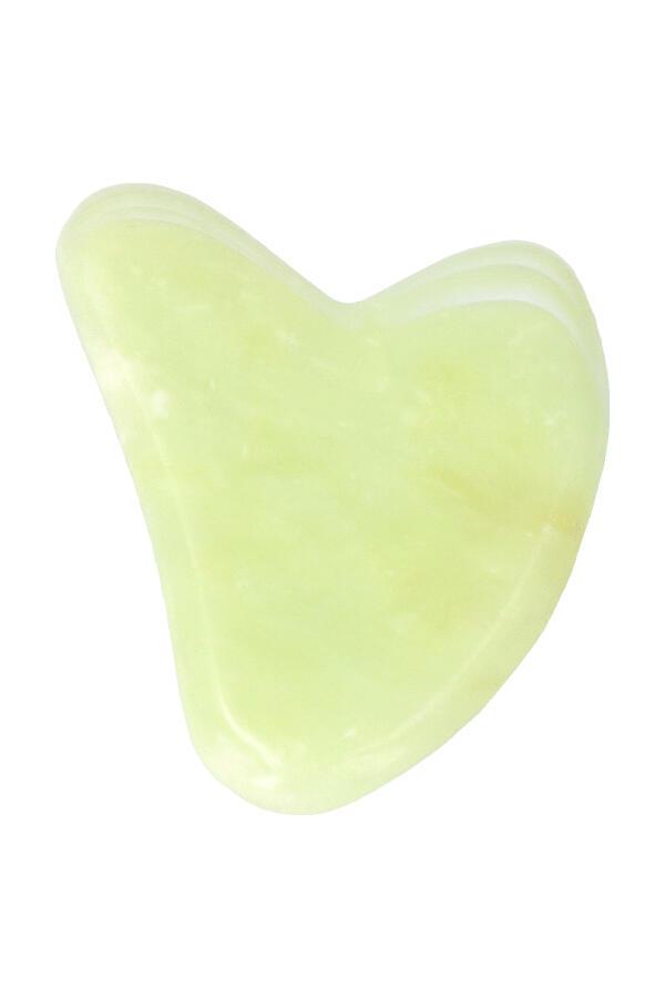 Jade Guasha massager, 8 cm, 2 tenen