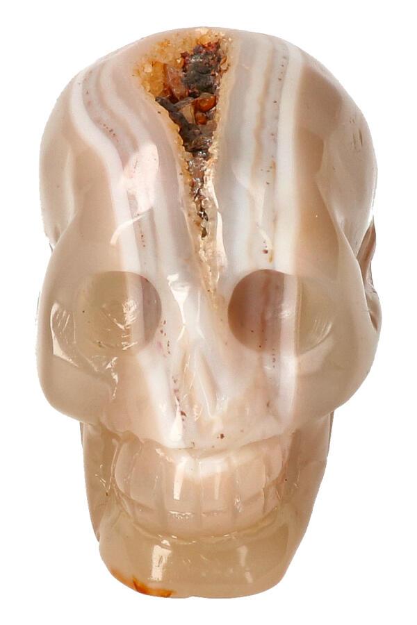 Agaat Geode Kristallen schedel, 8 cm, 317 gram