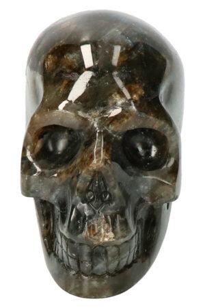 Labradoriet edelsteen schedel