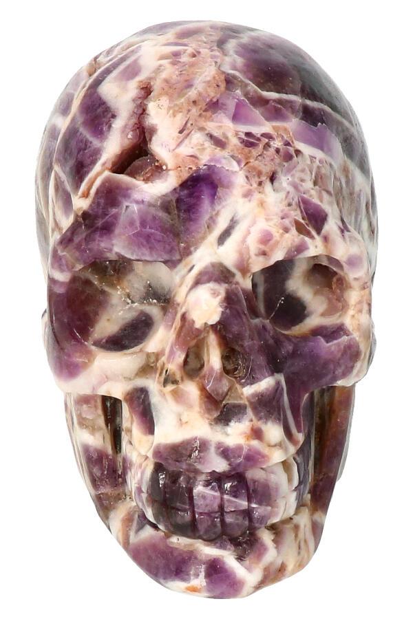 Chevron Amethist schedel, 9 cm, 464 gram