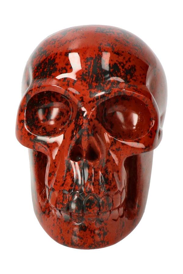 Mahonie Obsidiaan Kristallen schedel, 11 cm, 711 gram
