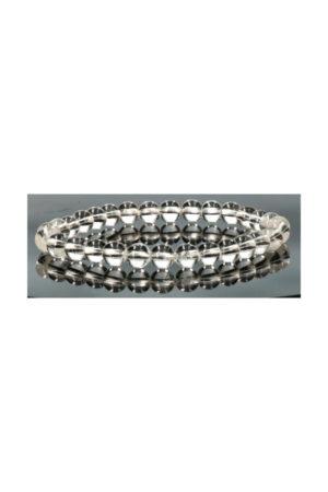 Bergkristal armband, 6 mm kralen, 18 en 19 cm