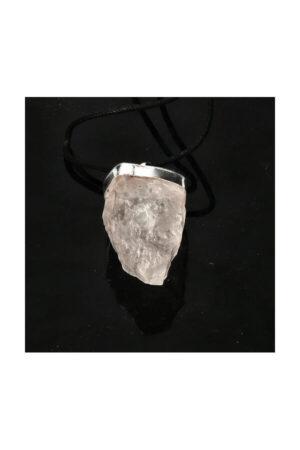 Bergkristal ruwe hanger, 3 - 4 cm