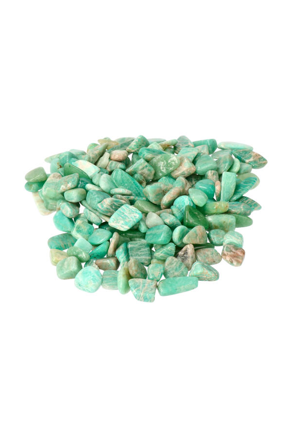 Amazoniet chips TOP kwaliteit! zak van 100 gram tot 1 kilo, 1 a 2 cm per steentje