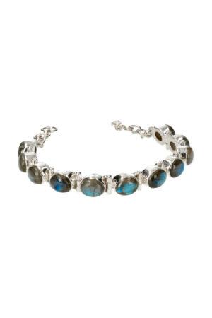 Labradoriet armband elegance zilveren armband