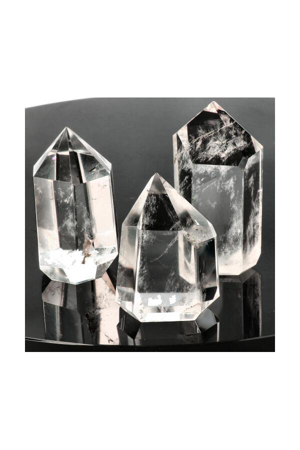 Bergkristal punt, Top kwaliteit, diverse formaten 25-200 gram, 4-7 cm, Brazilië
