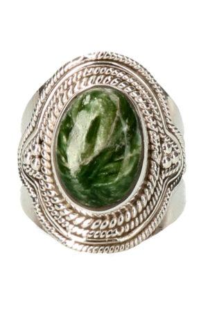 Serafiniet zilveren ring, 925 sterling, maat 17 tot maat 18