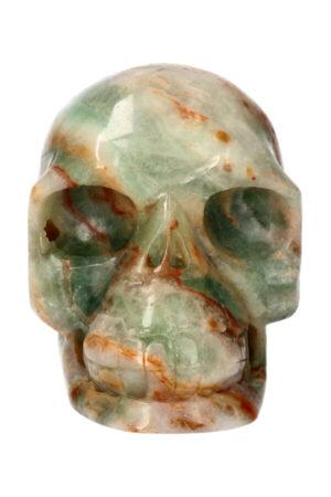 Blauwe Aragoniet realistische kristallen schedel