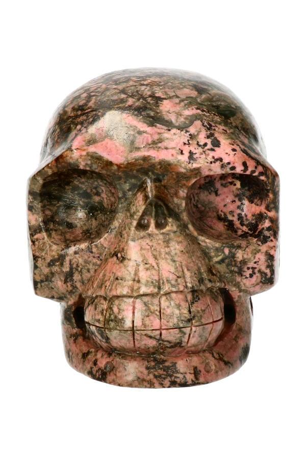 Rhodoniet realistische kristallen schedel, 10 cm, 1170 gram