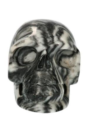 Zebra Jaspis realistische kristallen schedel