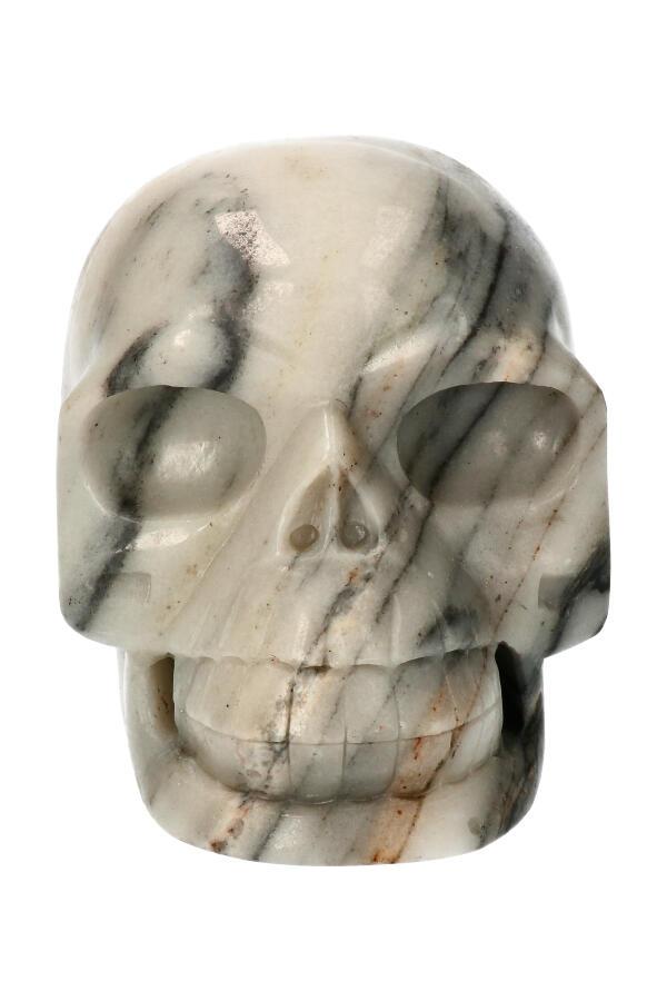 Zebra Jaspis realistische kristallen schedel, 13 cm, 1973 gram