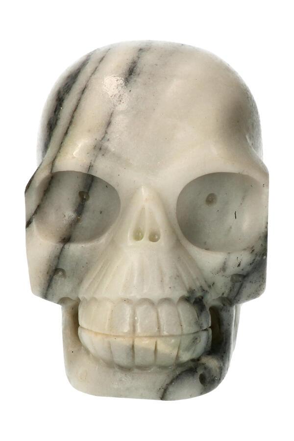 Zebra Jaspis realistische kristallen schedel, 13 cm, 1610 gram