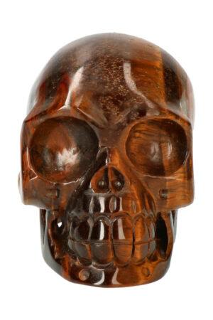 Tijgeroog realistische kristallen schedel