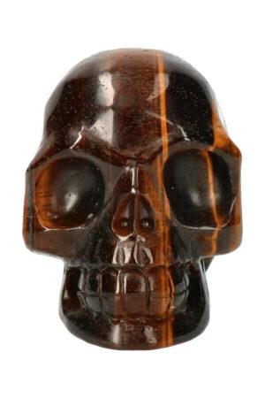 Tijgeroog realistische kristallen schedel, 8.7 cm, 544 gram