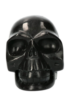 Zwarte Toermalijn realistische kristallen schedel