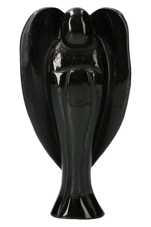 Obsidiaan engel groot, 22.5 cm, 1.05 kg