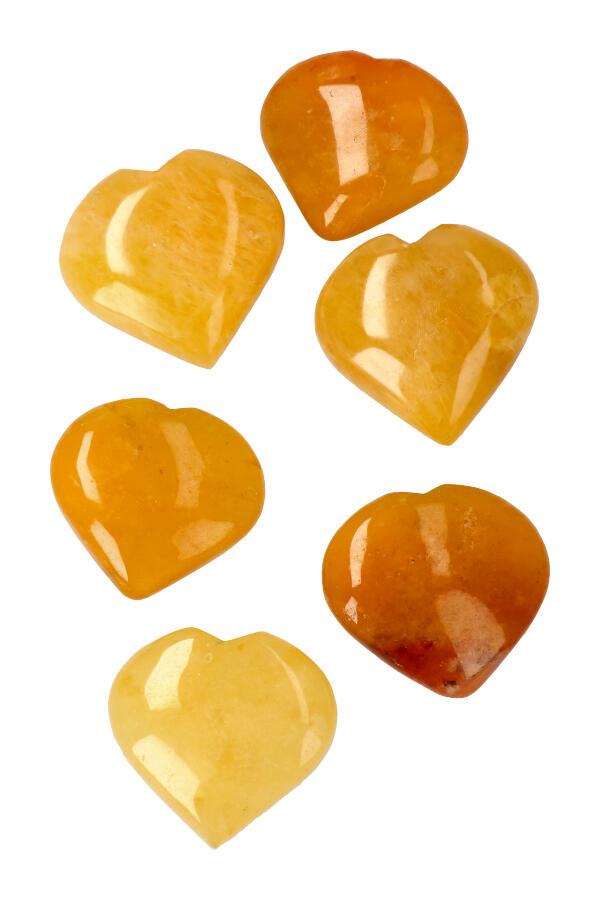 Golden Healer Lemurian hart, circa 5.5 a 6 cm, Brazilië