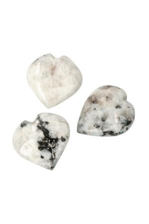 Regenboog Maansteen hart, circa 5 a 6 cm, India