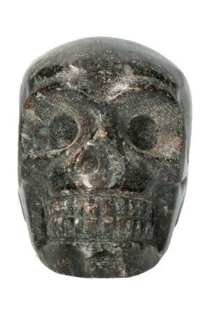Arfvedsoniet kristallen schedel, 7 cm, 250 gram