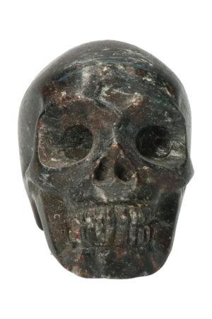 Arfvedsoniet kristallen schedel, 7 cm, 245 gram