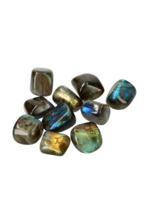 Labradoriet trommelstenen mooie kleur steen trommelsteen