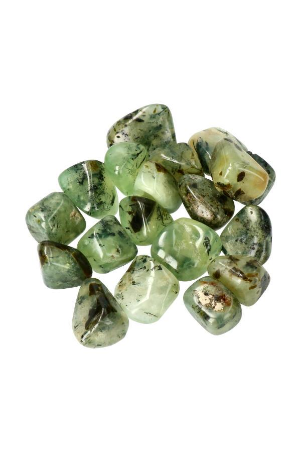 Prehniet trommelstenen, 1 steen of zakken van 100 gram tot 1 kilo