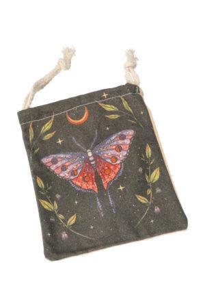 Stoffen zakje 'Vlinder', 15 cm x 12 cm