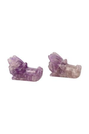 Amethist kristallen drakenschedel 5 cm