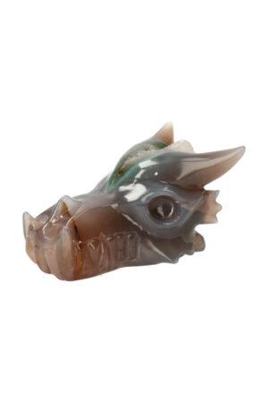 Agaat geode kristallen drakenschedel 11 cm 400 gram