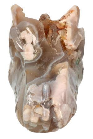 Kersenbloesem Agaat kristallen drakenschedel 15 cm 715 gram
