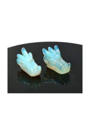Opaliet kristallen drakenschedel 5 cm
