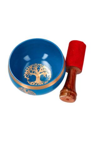 Singing bowl smudge schaal Tree of Life blauw 9 cm