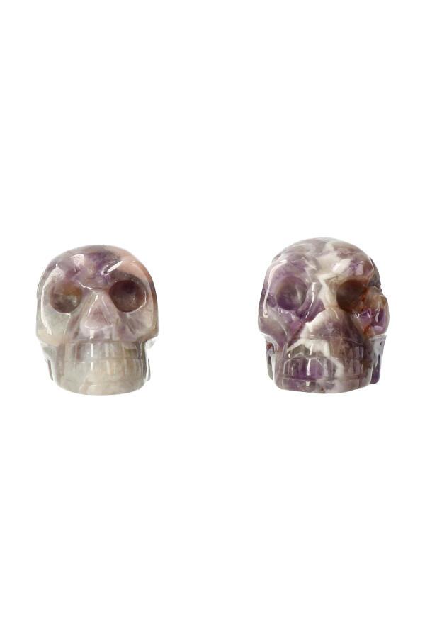 Amethist kristallen schedel, 4 cm
