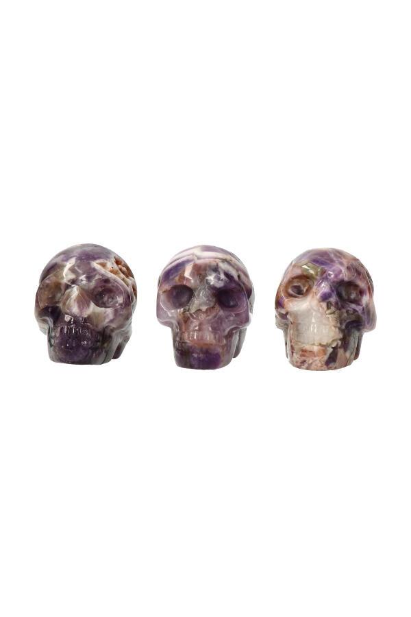 Amethist schedel, 5 cm