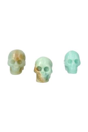 Amazoniet kristallen schedel 3.5 cm