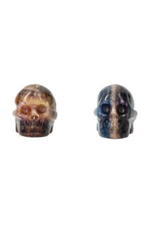 Fluoriet kristallen schedel 4 cm