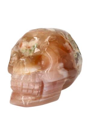 Kersenbloesem Agaat kristallen edelsteen schedel 6.7 cm 194 gram