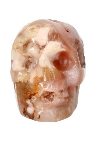 Kersenbloesem Agaat kristallen edelsteen schedel 6.5 cm 158 gram